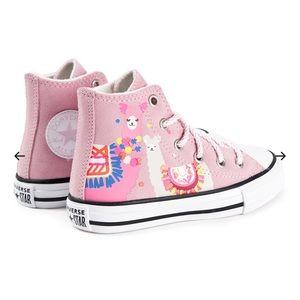 Converse Pink Llama  High Top Sneakers